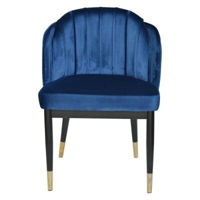 Ferraria Velvet Fabric Dining Chair, Navy