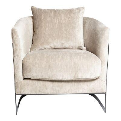 Pablo Velvet Fabric Tub Chair