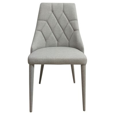 Bergamo Commercial Grade Fabric Dining Chair, Silver