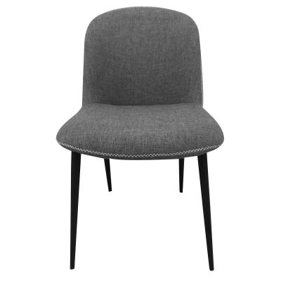 Rapallo Commercial Grade Fabric Dining Chair, Grey