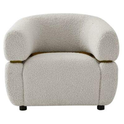 Nuxis Faux Lambskin Lounge Armchair
