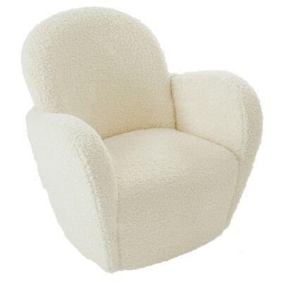Zona Faux Lambskin Lounge Armchair