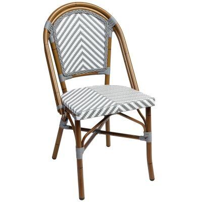 Amalfi Commercial Grade Wicker & Aluminium Indoor / Outdoor Dining Chair, Grey