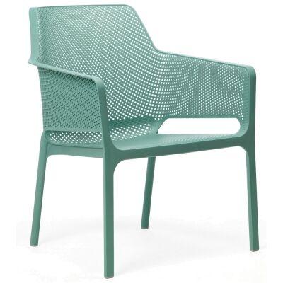 Relax Italian Made Commercial Grade Indoor/Outdoor Dining Armchair, Green