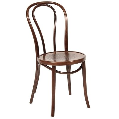 Princess Polish Made Commercial Grade European Beech Timber Dining Chair - Walnut