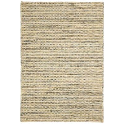 Chicago No.49 Handwoven Reversible Wool & Cotton Rug, 150x70cm, Green