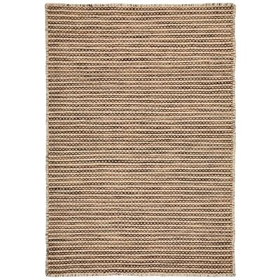 Chicago No.49 Handwoven Reversible Wool & Cotton Rug, 290x200cm, Brown