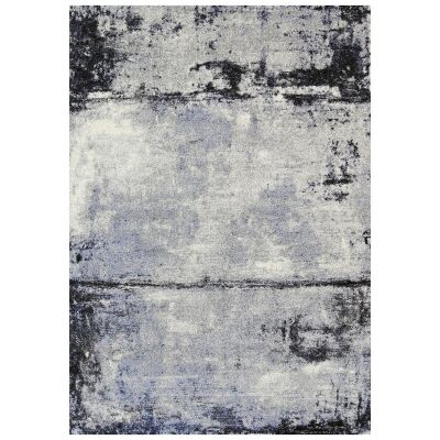 Vision Raw Modern Rug, 380x280cm, Grey / Blue