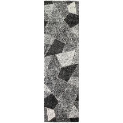 Vision Urban Modern Runner Rug, 300x80cm, Grey