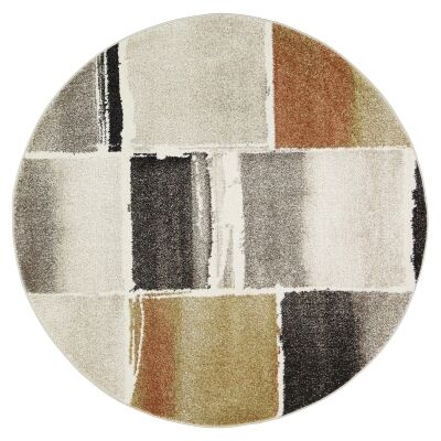 Vision Bricks Round Rug, 200cm, Multi