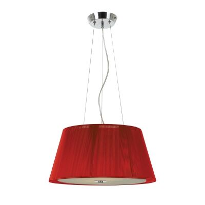 Chloe Fabric Pendant Light, Small, Red