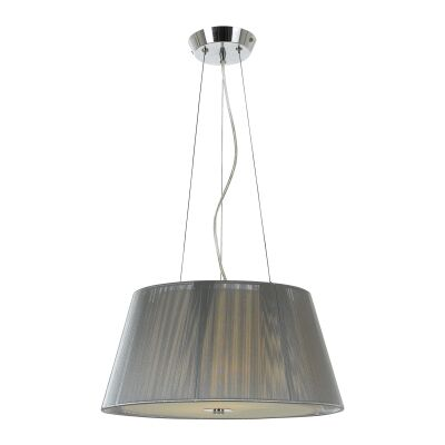 Chloe Fabric Pendant Light, Small, Silver