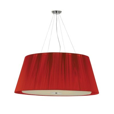 Chloe Fabric Pendant Light, Large, Red