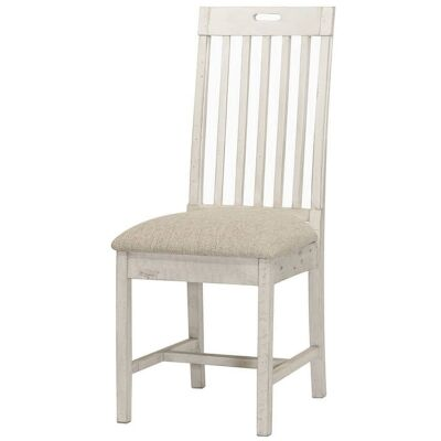 Cintra Reclaimed Timber Dining Chair, Fabric Seat