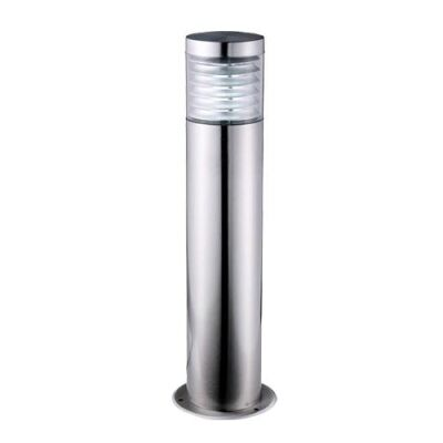 Elanora IP44 Stainless Steel Garden Bollard Light, Small, Silver