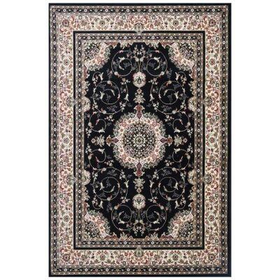 Chelsea Luka Turkish Made Oriental Rug, 330x240cm, Black