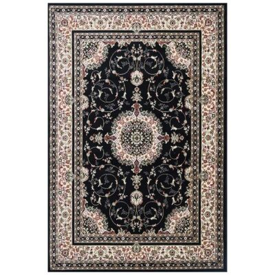 Chelsea Luka Turkish Made Oriental Rug, 150x80cm, Black
