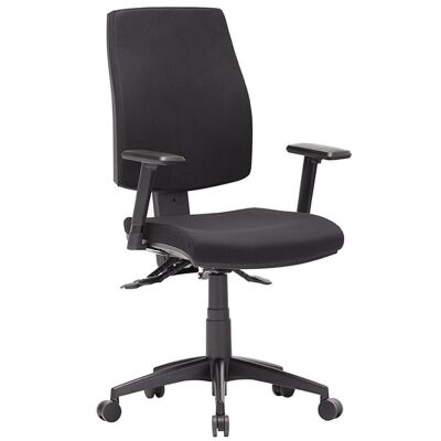 Click Fabric Task Office Chair with Arm, High Back