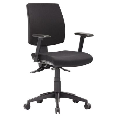Click Fabric Task Office Chair with Arm, Low Back
