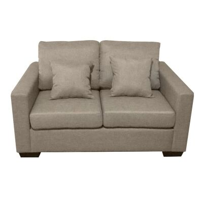 Club Fabric 2 Seater Sofa - Taupe