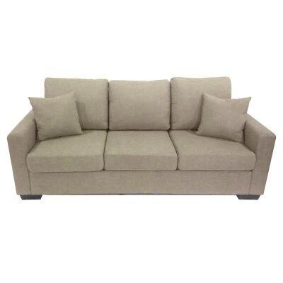 Club Fabric 3 Seater Sofa - Taupe