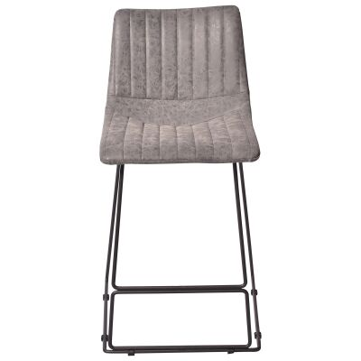 Bowden Fabric Counter Stool, Seal Grey