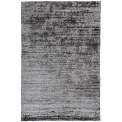 Camille Hand Knotted Wool & Viscose Rug, 120x70cm, Nickel Grey