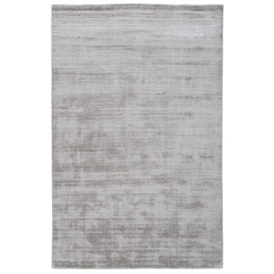 Camille Hand Knotted Wool & Viscose Rug, 350x250cm, Silverlight