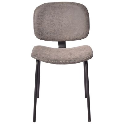 Lismore PU Leather Dining Chair, Seal Grey