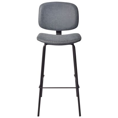 Lismore PU Leather Counter Stool, Topaz Blue