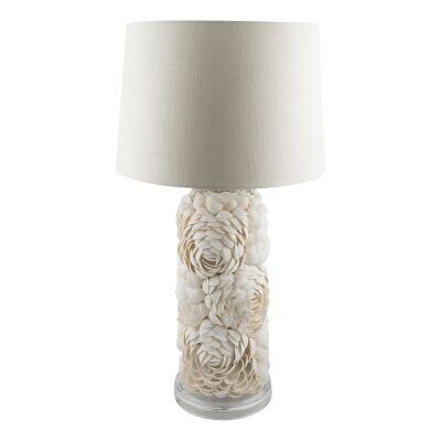 Cedella Tall Layered Shell Base Table Lamp