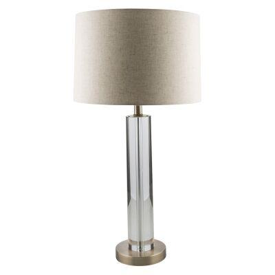 Yaven Crystal Tube Base Table Lamp