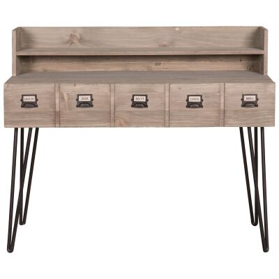 Crosby Reclaimed Pine Timber Writing Desk, 120cm