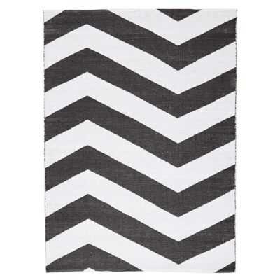 Coastal Chevron 150x220cm Indoor/Outdoor Rug - Black
