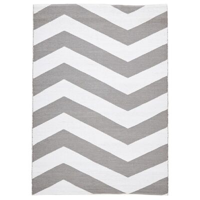 Coastal Chevron 150x220cm Indoor/Outdoor Rug - Grey