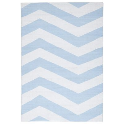 Coastal Chevron 150x220cm Indoor/Outdoor Rug - Sky