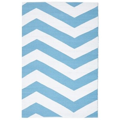 Coastal Chevron 150x220cm Indoor/Outdoor Rug - Turquoise