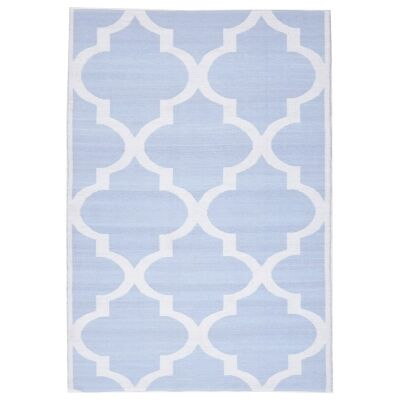 Coastal Trellis 150x220cm Indoor/Outdoor Rug - Sky