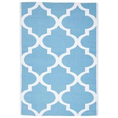 Coastal Trellis 150x220cm Indoor/Outdoor Rug - Turquoise