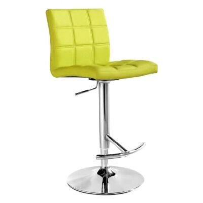 Paso PU Leather Gas Lift Counter / Bar Stool, Lime