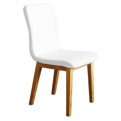 Marie PU Leather Dining Chair, White