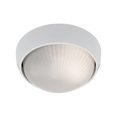 Coogee Small Round Aluminium IP44 Exterior Ceiling/Wall Light - White