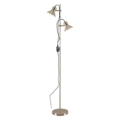 Corelli Metal Floor Lamp, Nickel