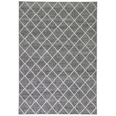 Courtyard Avleen Modern Rug, 330x240cm, Charcoal / Ivory