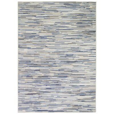 Courtyard Hue Modern Rug, 230x160cm, Cream / Blue