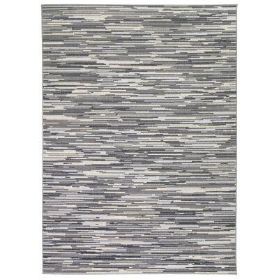 Courtyard Hue Modern Rug, 230x160cm, Cream / Charcoal