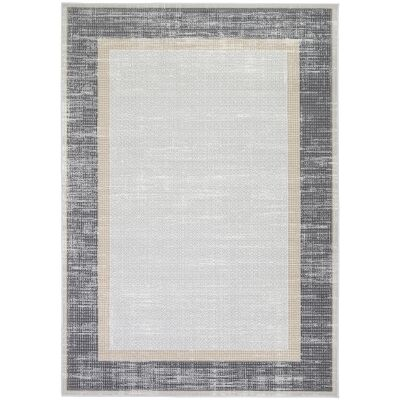 Courtyard New York Modern Rug, 230x160cm, Grey / Charcoal