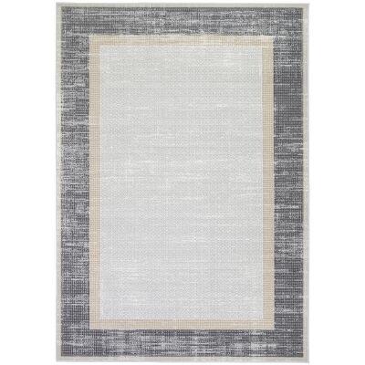Courtyard New York Modern Rug, 290x200cm, Grey / Charcoal