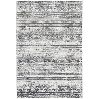 Courtyard Rome Modern Rug, 230x160cm, Grey / Cream