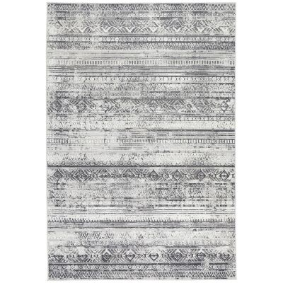 Courtyard Rome Modern Rug, 150x80cm, Grey / Cream